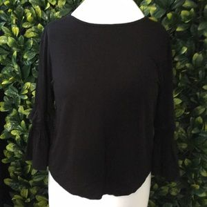 Black top with bell sleeved